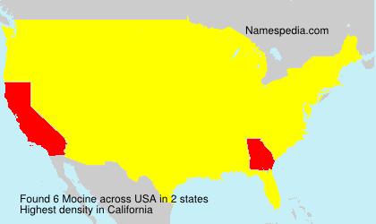 Familiennamen Mocine - USA