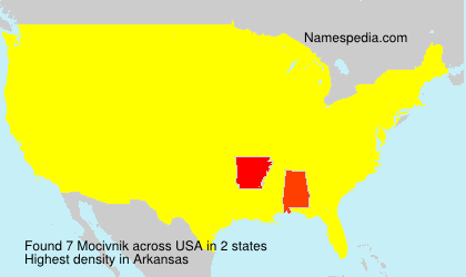 Surname Mocivnik in USA