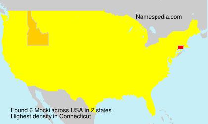 Surname Mocki in USA