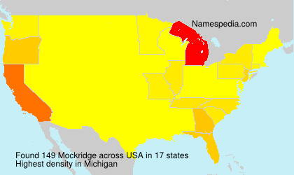 Surname Mockridge in USA
