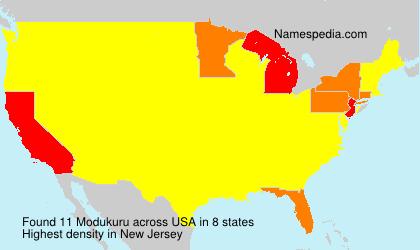 Surname Modukuru in USA