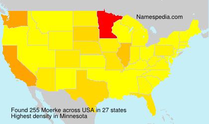 Familiennamen Moerke - USA