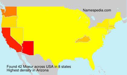 Surname Moeur in USA