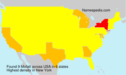 Surname Mofatt in USA