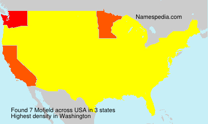 Surname Mofjeld in USA
