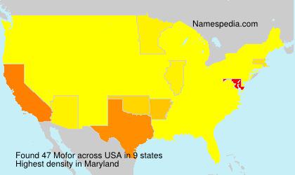 Surname Mofor in USA