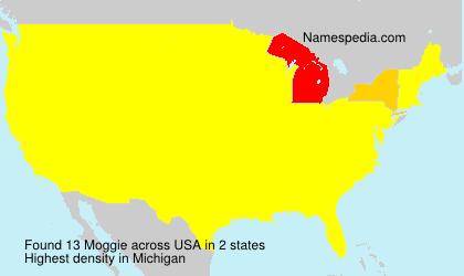 Familiennamen Moggie - USA