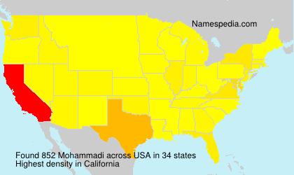 Surname Mohammadi in USA