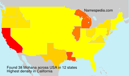 Surname Mohana in USA