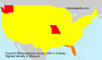 Familiennamen Mohanakumar - USA