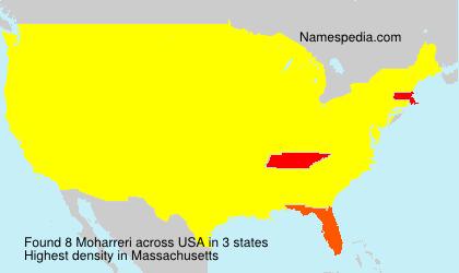 Familiennamen Moharreri - USA