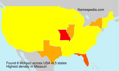 Surname Mohjazi in USA