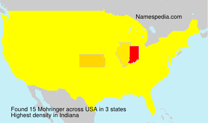 Surname Mohringer in USA