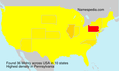 Surname Mohry in USA
