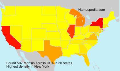 Surname Mohsin in USA