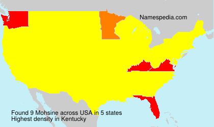 Surname Mohsine in USA