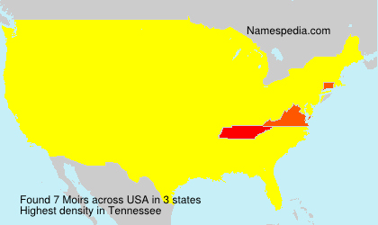 Familiennamen Moirs - USA