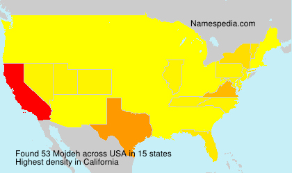 Surname Mojdeh in USA