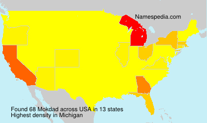 Surname Mokdad in USA