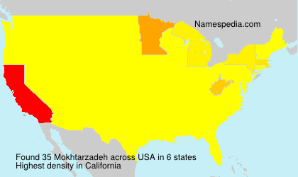 Surname Mokhtarzadeh in USA
