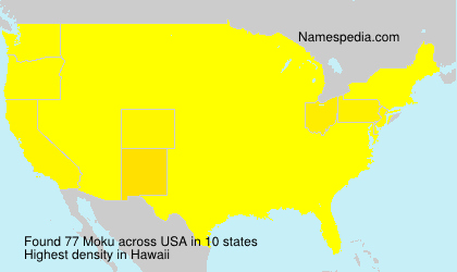 Surname Moku in USA