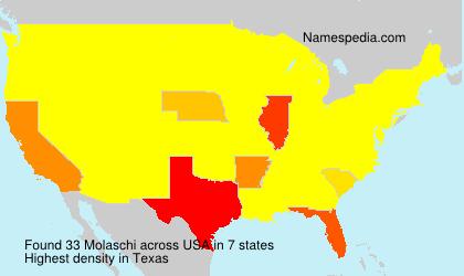 Surname Molaschi in USA