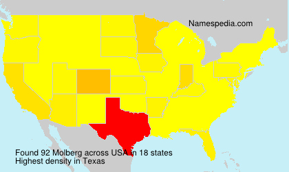 Surname Molberg in USA