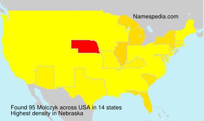 Surname Molczyk in USA