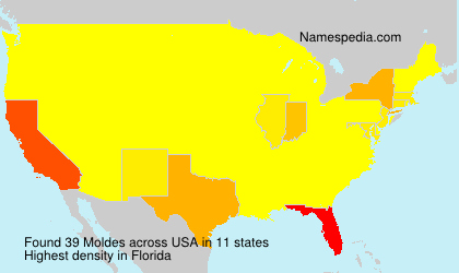 Surname Moldes in USA
