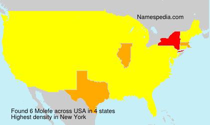 Familiennamen Molefe - USA