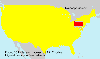 Surname Molesevich in USA