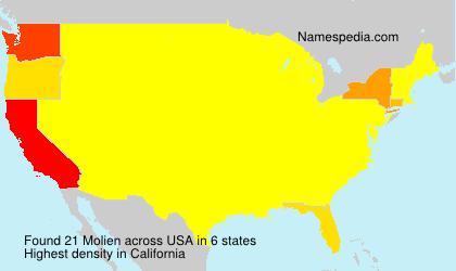 Familiennamen Molien - USA