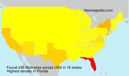 Surname Molinares in USA