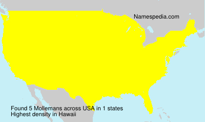 Surname Mollemans in USA