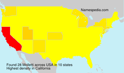 Surname Molletti in USA