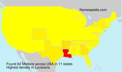 Surname Molliere in USA