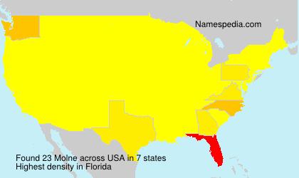 Surname Molne in USA