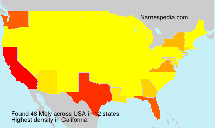 Surname Moly in USA