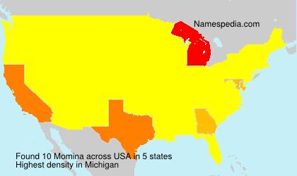 Surname Momina in USA