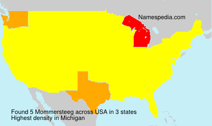 Surname Mommersteeg in USA