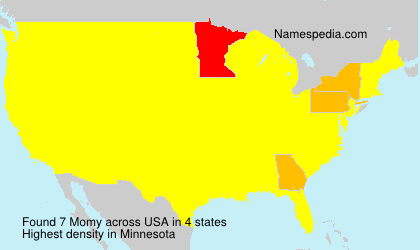 Surname Momy in USA