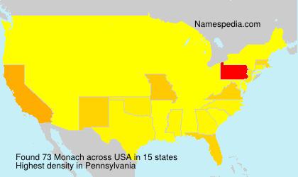 Familiennamen Monach - USA