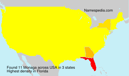Surname Monaga in USA