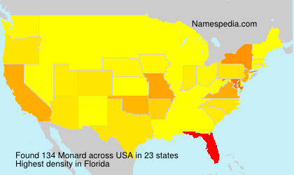 Surname Monard in USA