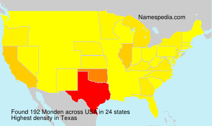 Surname Monden in USA