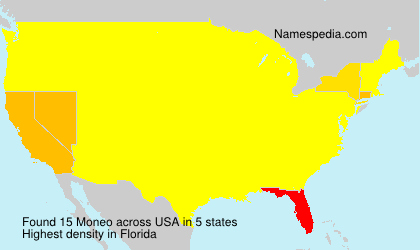 Surname Moneo in USA
