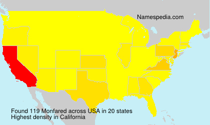 Surname Monfared in USA
