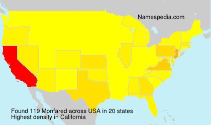 Surname Monfared in USA