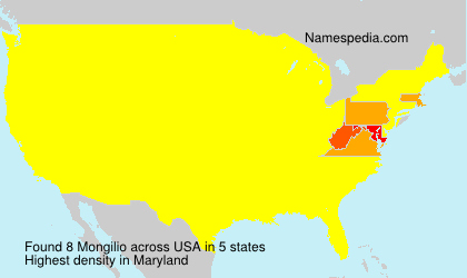 Surname Mongilio in USA