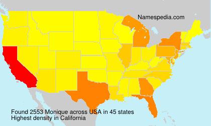 Familiennamen Monique - USA